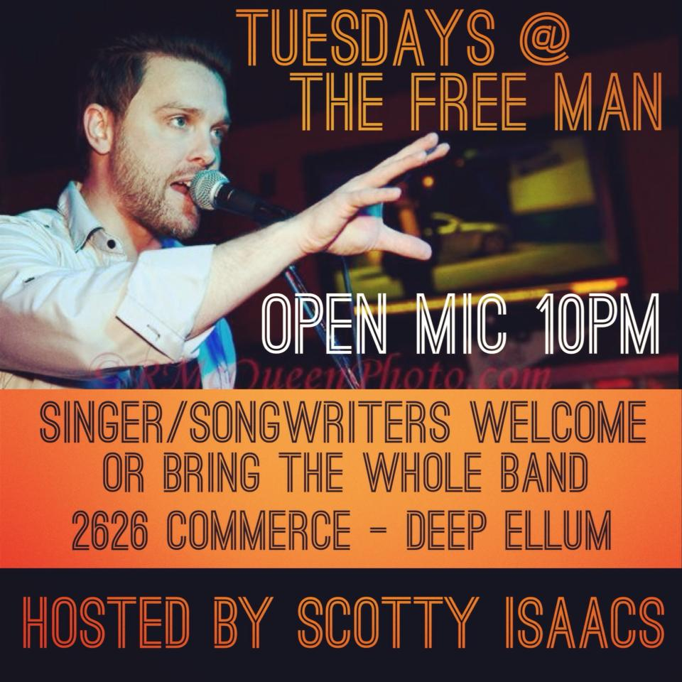 Open Mic Night @ The Free Man | Dallas | Texas | United States