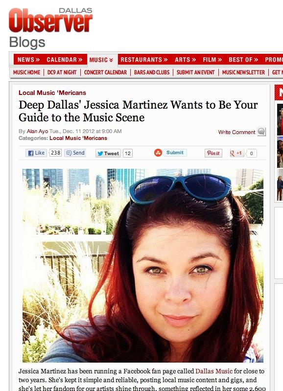 Deep Dallas Music Founder Jessica Martinez